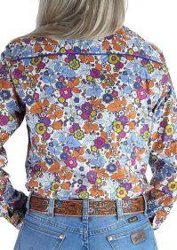 Camisa Fast Back Feminina Estampa Floral Colorida Manga Longa