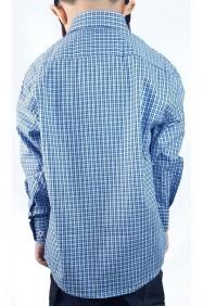 Camisa Infantil Austin Western Exclusiva Xadrez Azul