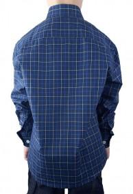 Camisa Infantil Austin Western Xadrez Azul Escuro Exclusiva