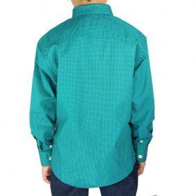 Camisa Infantil Fast Back Estampada Manga Longa Verde