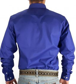 Camisa Lisa Austin Western Masculina Manga Longa Original Shirts Azul