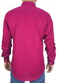 Camisa Masculina Austin Western Original Shirts Rosa Escuro