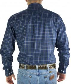Camisa Masculina Austin Western Slim Exclusiva Azul Marinho