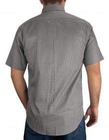 Camisa Masculina Austin Western Slim Fit Estampada Cinza