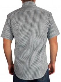 Camisa Masculina Austin Western Slim Fit Verde Azul Preto