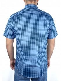 Camisa Masculina Austin Western Slim Fit Xadrez Azul