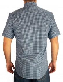 Camisa Masculina Austin Western Slim Fit Xadrez Azul Branco