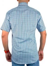 Camisa Masculina Austin Western Slim Xadrez Azul Preto Cinza