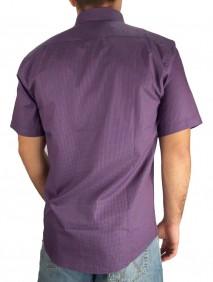 Camisa Masculina Austin Western Slim Xadrez Pequen Rosa Azul
