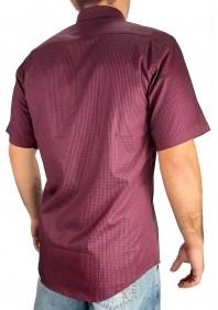 Camisa Masculina Austin Western SlimFit Xadrez Vermelho Pret