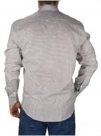 Camisa Masculina Austin Western Xadrez Pequeno Vermelho Slim