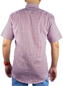 Camisa Masculina Austin Western Xadrez Vermelho Azul SlimFit