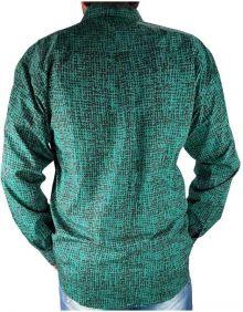 Camisa Masculina CINCH Estampada Manga Longa Verde Turquesa