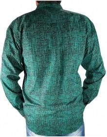 Camisa Masculina CINCH Importada Manga Longa Verde Turquesa