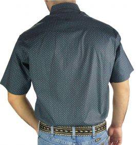 Camisa Masculina Estampada Fast Back Manga Curta Azul Verde