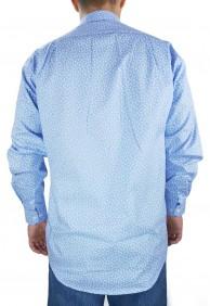 Camisa Masculina Fast Back Estampada Azul Claro Branco