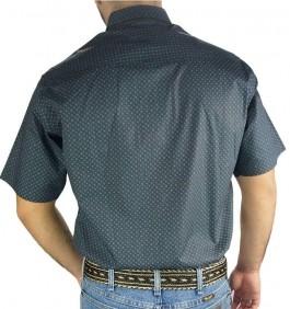 Camisa Masculina Fast Back Manga Curta Estampada Azul Verde