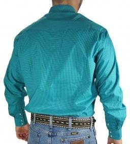 Camisa Masculina Fast Back Xadrez Pequeno Azul Turquesa