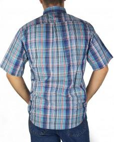 Camisa TXC Brand Masculina Manga Curta Xadrez Azul
