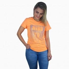 Camiseta Feminina Miss Country Tee Galaxi Laranja
