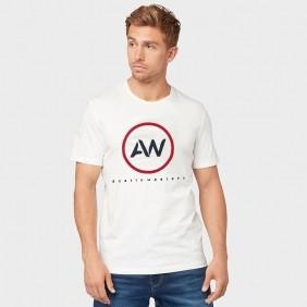 Camiseta Masculina Austin Western Branca Estampada