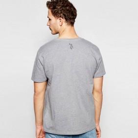 Camiseta Masculina Austin Western Cinza Estampada
