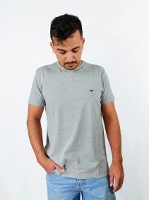 Camiseta Masculina Casual Wild West Cinza Claro