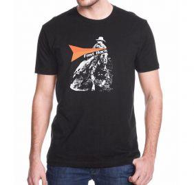 "Camiseta Masculina Fast Back ""Team Ropping"" Preta"