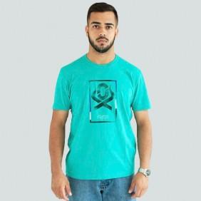 Camiseta Masculina Ox Horns Estampada Verde Claro