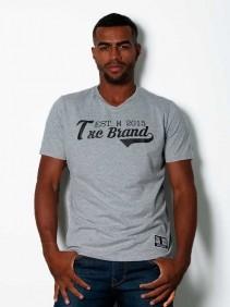 Camiseta TXC Brand Masculina Mescla Logo Emborrachada