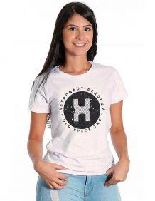 Camiseta TXC Feminina Manga Curta Cor Marfim Logo TXC Preto