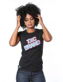 Camiseta TXC Feminina Manga Curta Preta Estampa Colorida