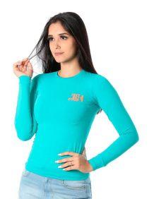 Camiseta TXC Feminina Manga Longa X-Sweat Verde Jade