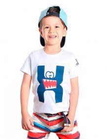 Camiseta TXC Infantil Manga Curta Branco Estampada