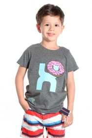 Camiseta TXC Infantil Manga Curta Mescla Estampa Donuts