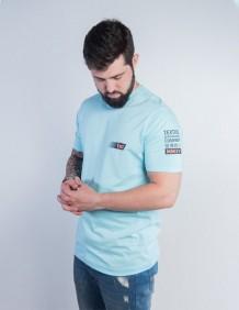 Camiseta TXC Masculina Azul Clara Logo Emborrachada