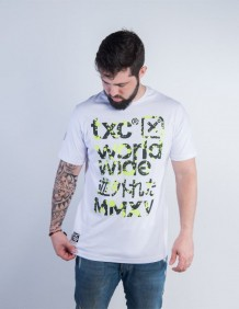Camiseta TXC Masculina Branco Estampa Emborrachada