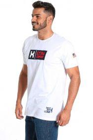 Camiseta TXC Masculina Manga Curta Branco Bordada