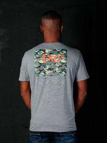 Camiseta TXC Masculina Manga Curta Cinza Logo Emborrachada