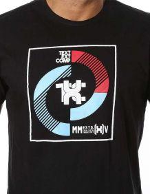 Camiseta TXC Masculina Manga Curta Preta Logo TXC ao Centro