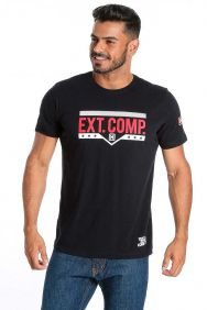 Camiseta TXC Masculina Manga Curta Preto Ext Comp Detalhes