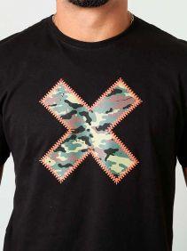 Camiseta TXC Masculina Manga Curta Preto Logo Emborrachada