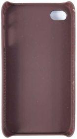 Capinha Celular Iphone 4-4S em Couro Verde com Cruz e Rebite