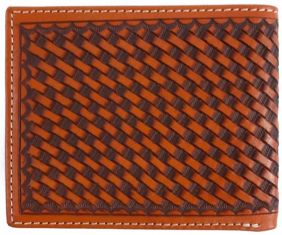 Carteira Western Importada Couro Bordado Ranger Belt Company