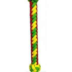 Chicote Partrade em Nylon Trançado Vermelho/Verde/Amarelo