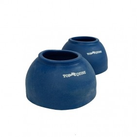 Cloche de Borracha Curto Top Equine Horse Craft Azul