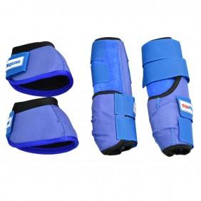 Conjunto de Caneleira e Cloche Top Equine para Azul Claro