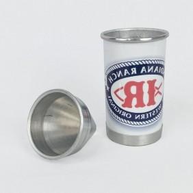 Cuspidor De Fumo Em Aluminio Branco Indiana Ranch