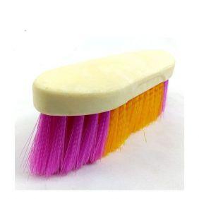 Escova para Banho de Cavalo com Cerdas de Nylon Colorida