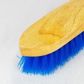 Escova Partrade de Madeira Envernizada com Cerdas Azul